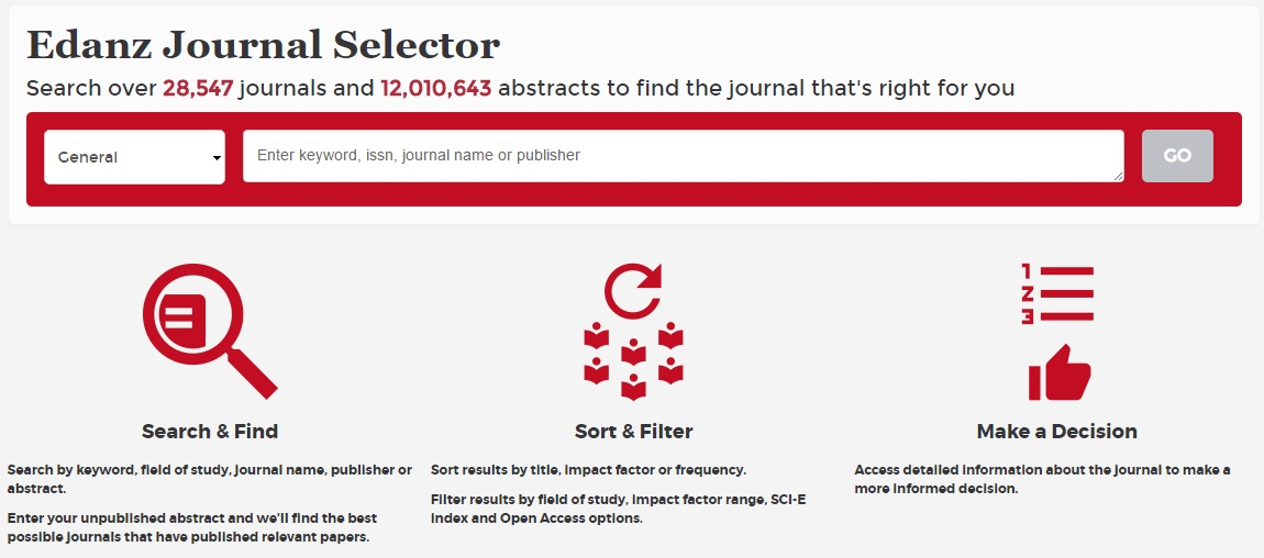 edans-journal-selector